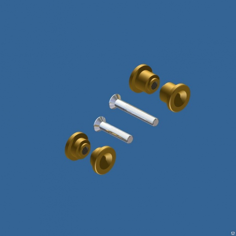 Втулка ручки для клипсатора КД (комплект 4 шт. бронза )